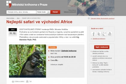 Nejlepší safari ve východní Africe - přednáška Stanislava Rojíka