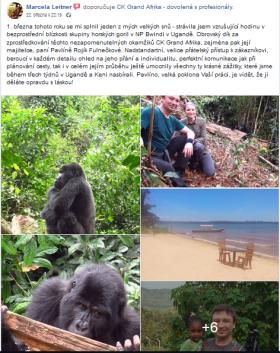 Gorily v Ugandě a návštěva Keni - měsíční poznávací cesta na míru a privátně - únor-březen 2019