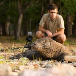 Matej natáčí dokumentární film o varanech v NP Komodo v Indonésii