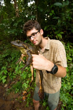 V Kamerunu s největší žábou světa - veleskokanem goliáším