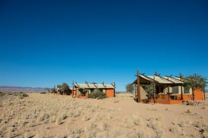 pouštní lodge Namibie