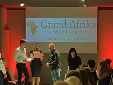 CK GRAND AFRIKA na módní přehlídce Aleny Wilson v Café Louvre