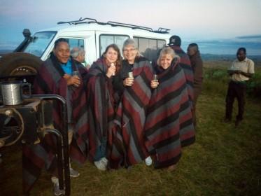 Pavlína Rojík Fulnečková na inspekční cestě v Malawi (Nyika Plateau)