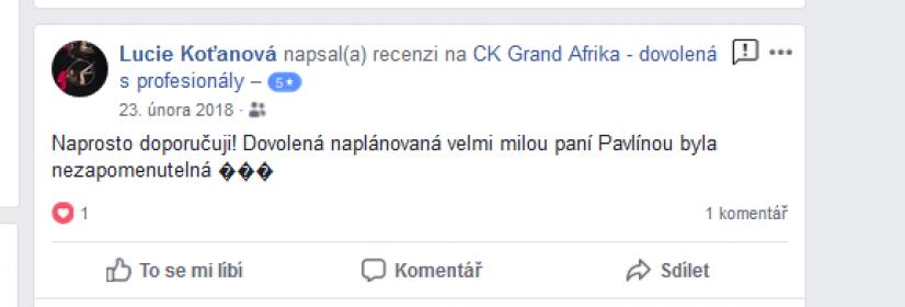 recenze safari Lucie Koťanová