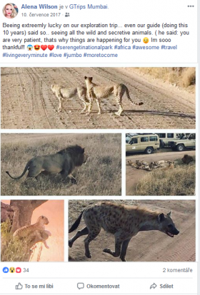 safari a Zanzibar Alena Wilson