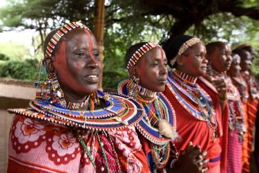 masajská vesnice keňa